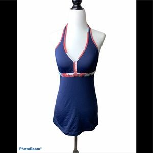 Lululemon tank halter top , navy blue size 8